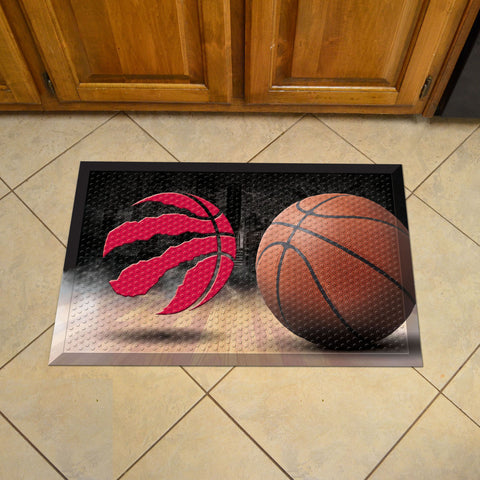 NBA - Toronto Raptors Scraper Mat 19x30 - Ball - FANMATS - Dropship Direct Wholesale