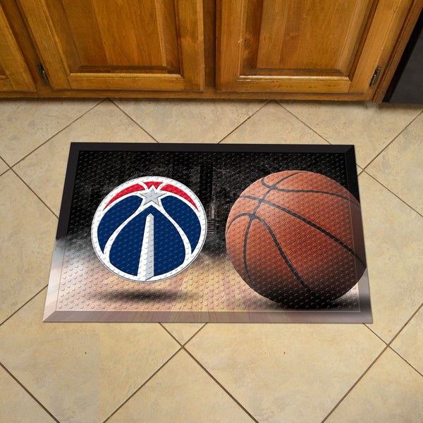 NBA - Washington Wizards Scraper Mat 19x30 - Ball - FANMATS - Dropship Direct Wholesale