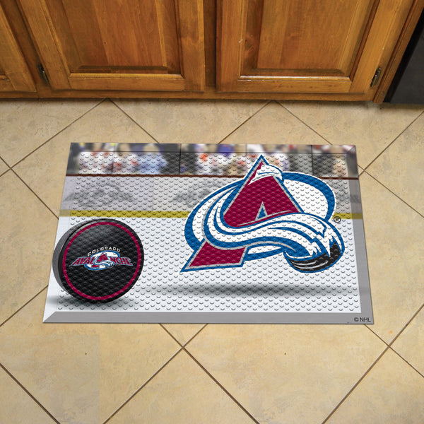 Colorado Avalanche Scraper Mat 19x30 - Ball - FANMATS - Dropship Direct Wholesale