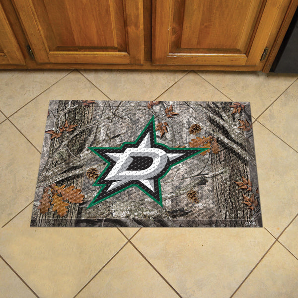 Dallas Stars Scraper Mat 19x30 - Camo - FANMATS - Dropship Direct Wholesale