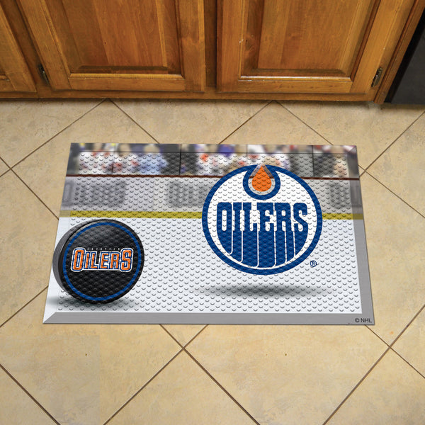 Edmonton Oilers Scraper Mat 19x30 - Ball - FANMATS - Dropship Direct Wholesale