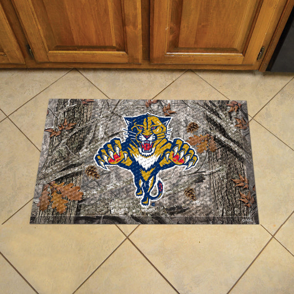 Florida Panthers Scraper Mat 19x30 - Camo - FANMATS - Dropship Direct Wholesale