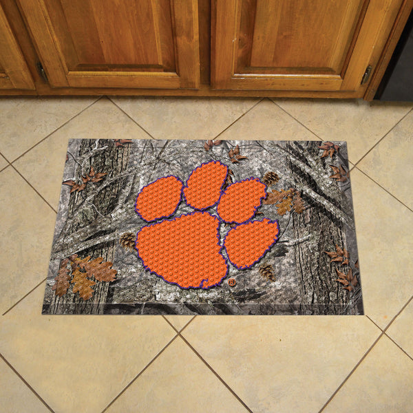 Clemson University Scraper Mat 19x30 - Camo - FANMATS - Dropship Direct Wholesale