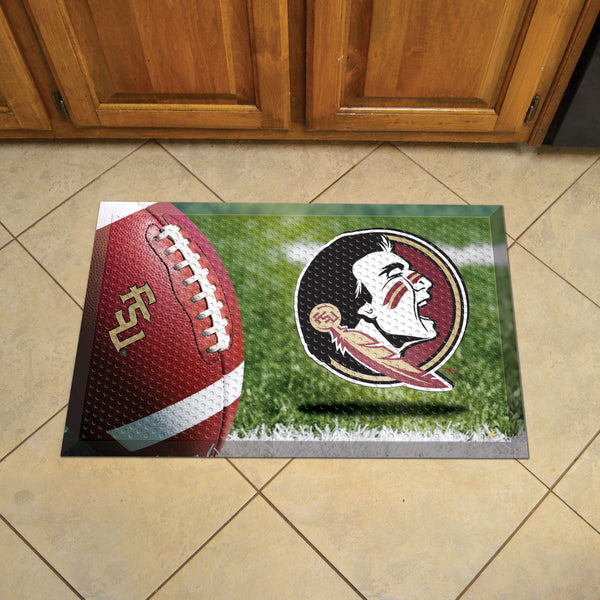 Florida State Scraper Mat 19x30 - Ball - FANMATS - Dropship Direct Wholesale