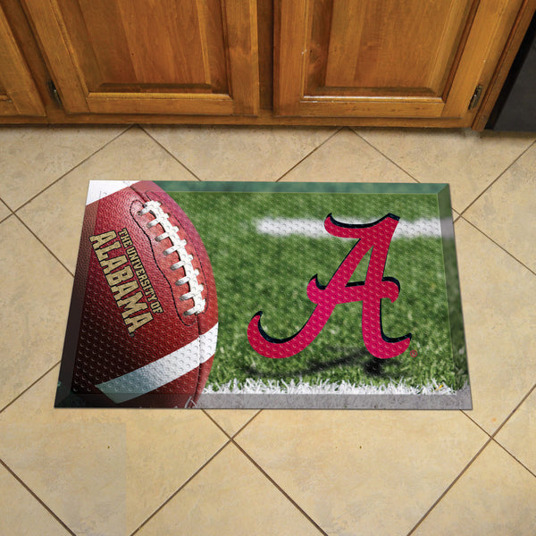 University of Alabama Scraper Mat 19x30 - Ball - FANMATS - Dropship Direct Wholesale