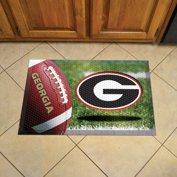 University of Georgia Scraper Mat 19x30 - Ball - FANMATS - Dropship Direct Wholesale
