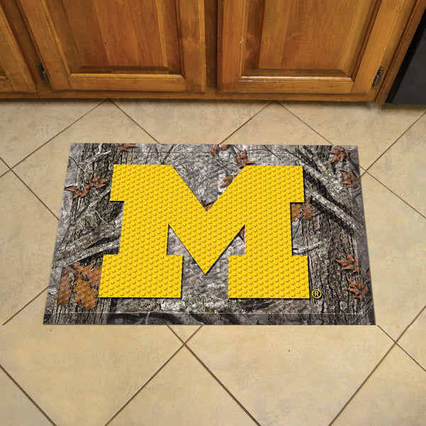 University of Michigan Scraper Mat 19x30 - Camo - FANMATS - Dropship Direct Wholesale