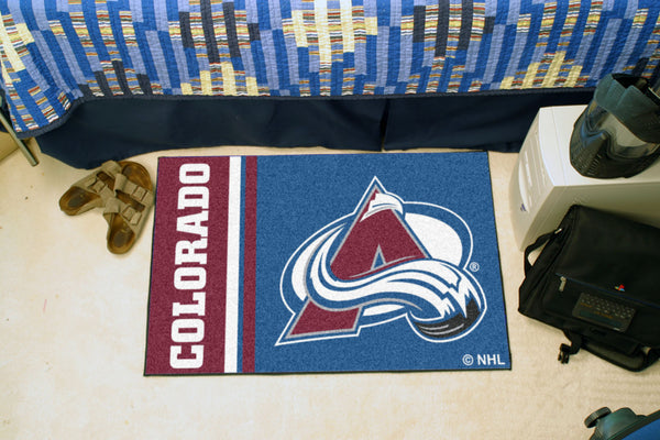 Columbus Blue Jackets Uniform Inspired Starter Rug 19x30 - FANMATS - Dropship Direct Wholesale