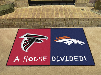 Atlanta Falcons/Denver Broncos NFL House Divided Rugs 33.75x42.5 - FANMATS - Dropship Direct Wholesale