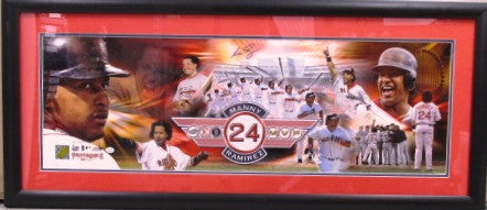 Manny Ramirez Autographed Career Highlight 32x12 Collage Framed - MLBPAA - Dropship Direct Wholesale