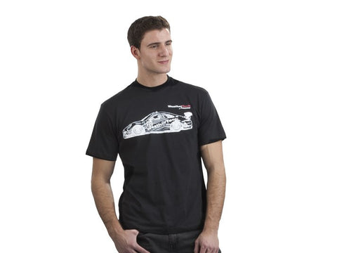 WeatherTech Front Sketch – Short Sleeve Black Adult T-Shirt - WeatherTech - Dropship Direct Wholesale