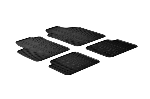 Gledring 2007-2012 Fiat 500 Custom Fit All Weather Floor Mats - Gledring - Dropship Direct Wholesale