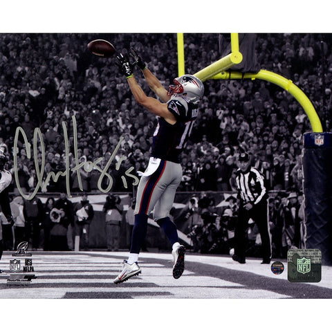 Chris Hogan Signed TD in 2016 AFC Championship Game 8x10 Photo