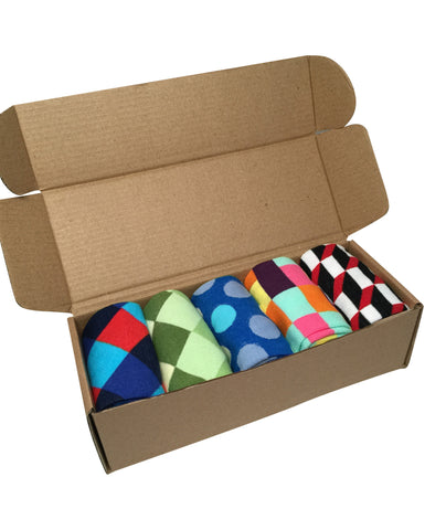 5 Pairs Men's Power Socks - #Sockgame Collection - Modern Motif - Dropship Direct Wholesale - 2