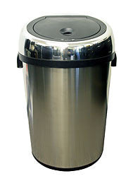iTouchless 18 Gallon Large Commercial Size Stainless Steel Automatic Sensor Touchless Trash Can - iTouchless - Dropship Direct Wholesale