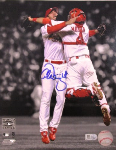 Adam Wainwright and Yadier Molinal Autographed 16x20 Photo of 2006 World Series - MLBPAA - Dropship Direct Wholesale