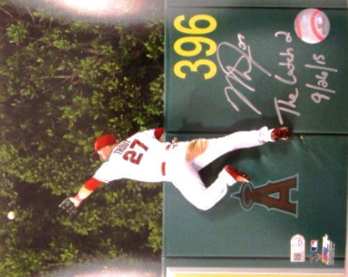 Limited Edition Mike Trout Autographed 16x20 Photo of The Catch - MLBPAA - Dropship Direct Wholesale