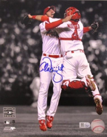 Adam Wainwright and Yadier Molinal Autographed 8x10 Photo of 2006 World Series - MLBPAA - Dropship Direct Wholesale
