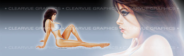 Window Graphic - 20x65 Pin-up Maggie - ClearVue Graphics - Dropship Direct Wholesale