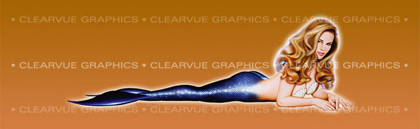Window Graphic - 20x65 Pin-up Obsidian - ClearVue Graphics - Dropship Direct Wholesale
