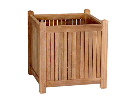 18-inch Square Planter Box - Anderson Teak - Dropship Direct Wholesale