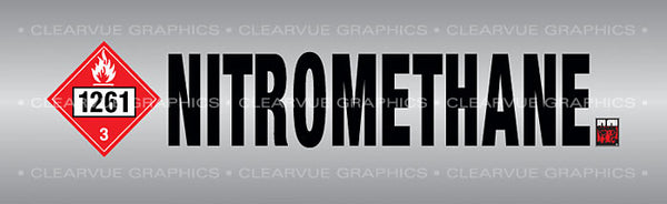 Window Graphic - 16x54 Nitromethane Chrome - ClearVue Graphics - Dropship Direct Wholesale