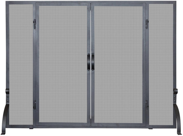 Single Panel Screen W/ Doors - UniFlame - Dropship Direct Wholesale