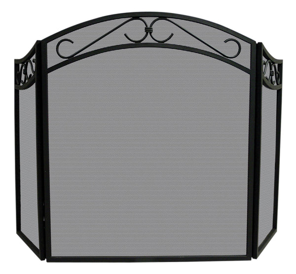 3 Fold Wrought Iron Screen - UniFlame - Dropship Direct Wholesale