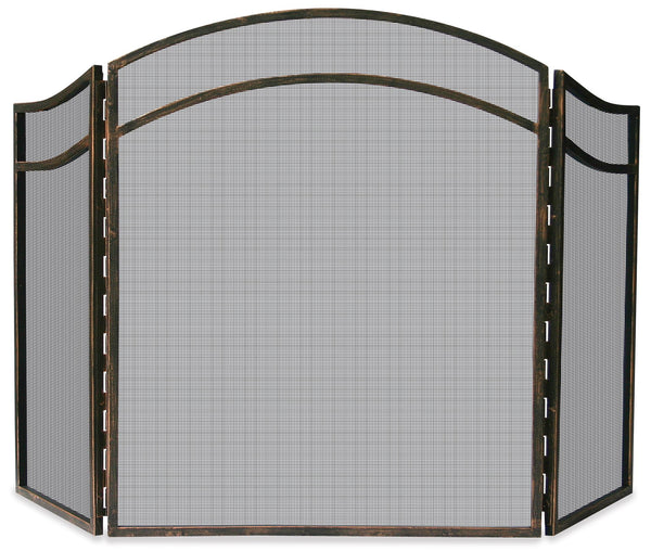 3 Fold Antique Rust Screen - UniFlame - Dropship Direct Wholesale