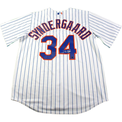 Noah Syndergaard Signed New York Mets Home Pinstripe Authentic Cool Base Jersey