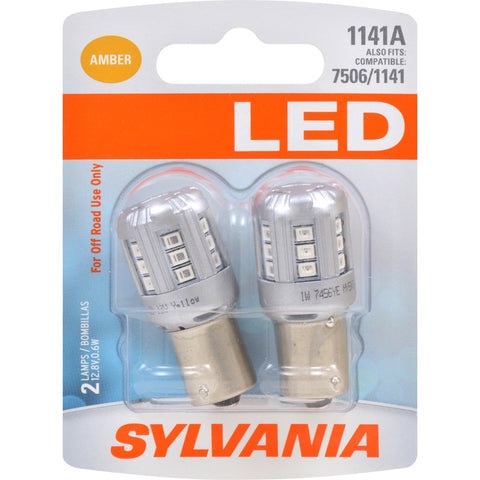 SYLVANIA 1141 Amber LED Bulb (Pack of 2)
