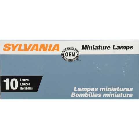 SYLVANIA 105 Basic Miniature Bulb, (Pack of 10)