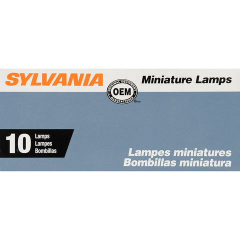 SYLVANIA 1076 Basic Miniature Bulb, (Pack of 10)
