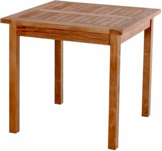 Bahama 35-inch Square Table Small Slats - Anderson Teak - Dropship Direct Wholesale