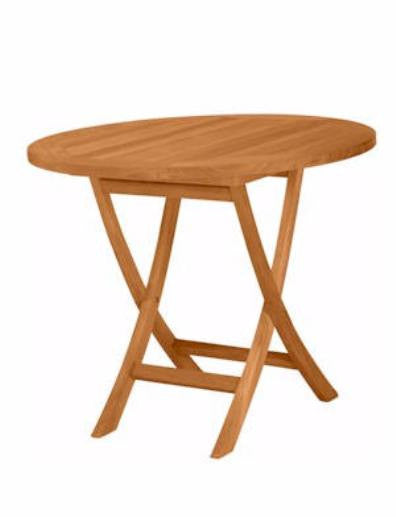 TBF035R 35-Inch Round Bistro Folding Table - Anderson Teak - Dropship Direct Wholesale