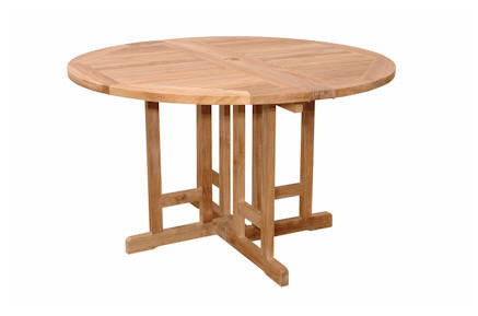 Butterfly 47-inch Round Folding Table - Anderson Teak - Dropship Direct Wholesale
