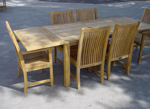 Bahama 95 Inch Rectangular Table + Double Leaf Extensions - Anderson Teak - Dropship Direct Wholesale