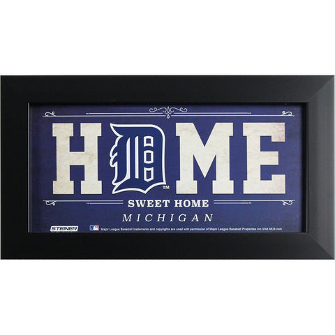 Detroit Tigers 6x12 Home Sweet Home Sign
