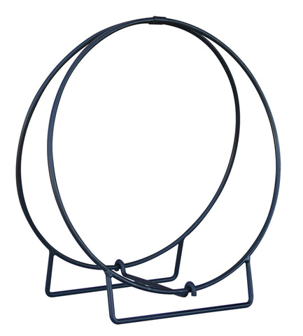 "24"" Black Log Hoop - 1/2"" Solid Stock - UniFlame - Dropship Direct Wholesale"