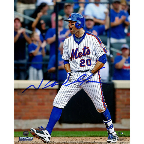 Neil Walker Signed New York Mets Celebration 8x10 Photo