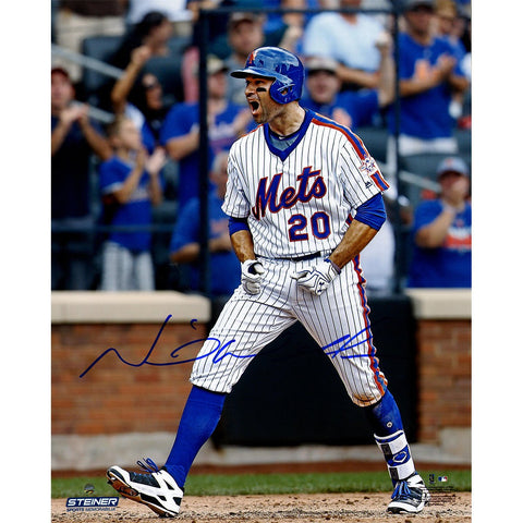 Neil Walker Signed New York Mets Celebration 16x20 Photo