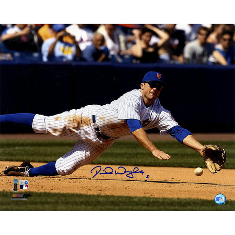 David Wright Signed Diving For Baseball 16x20 Photo MLB Auth