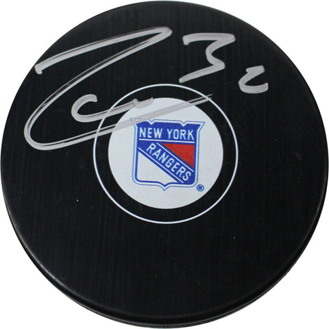 Mats Zuccarello Signed New York Rangers Puck MSG