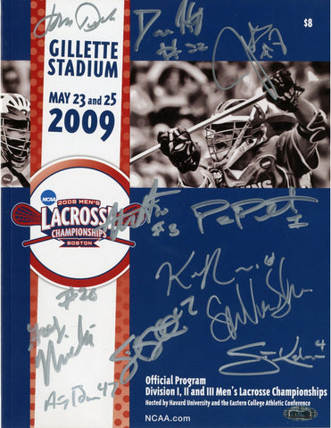 2009 Mens Lacrosse Final 4 Program- 11 Sigs