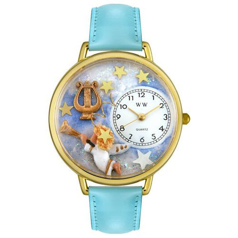 Angel with Harp Watch in Gold (Large) - Whimsical Gifts - Dropship Direct Wholesale