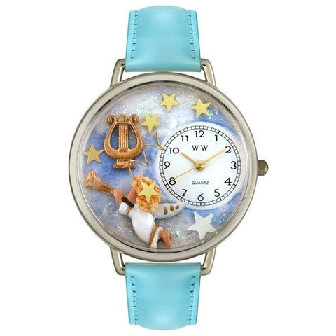 Angel with Harp Watch in Silver (Large) - Whimsical Gifts - Dropship Direct Wholesale