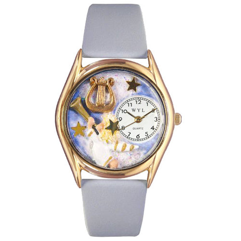 Angel with Harp Watch Small Gold Style - Whimsical Gifts - Dropship Direct Wholesale