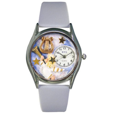 Angel with Harp Watch Small Silver Style - Whimsical Gifts - Dropship Direct Wholesale