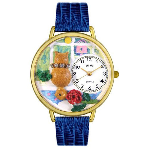 Aristo Cat Watch in Gold (Large) - Whimsical Gifts - Dropship Direct Wholesale