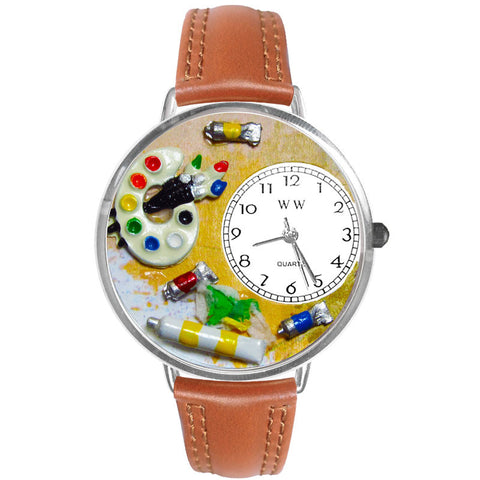 Artist Watch in Silver (Large) - Whimsical Gifts - Dropship Direct Wholesale